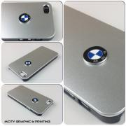 USA BMW iPhone 5 Case BMW Emblem Sport Car logo Aluminium matte Metallist cover -Silver