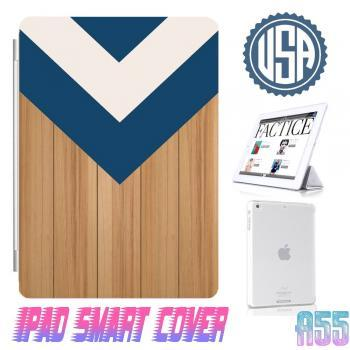 Wood Print Chevron IPad Air Smart Cover , IPad Mini Smart Cover , IPad 4 Smart Cover , IPad 3 case , ipad 2 Magnetic Sleep Wake Case A55