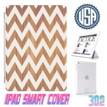 USA Wood Print Chevron IPad Air Smart Cover , IPad Mini Smart Cover , IPad 4 Smart Cover , IPad 3 case , ipad 2 Magnetic Sleep Wake Case #302